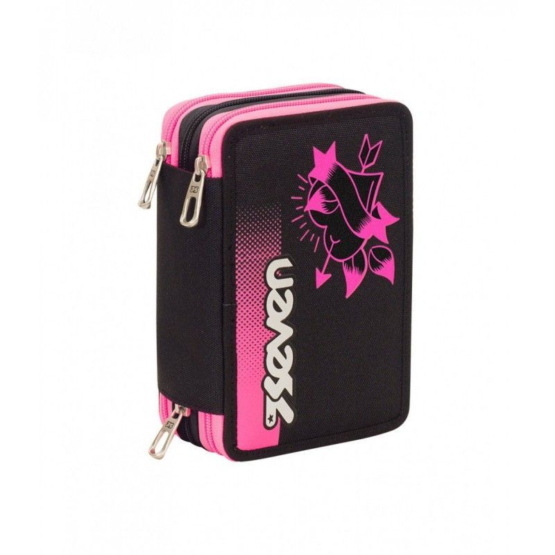 astuccio-3-zip-seven-color-girl-nero-e-fuxia