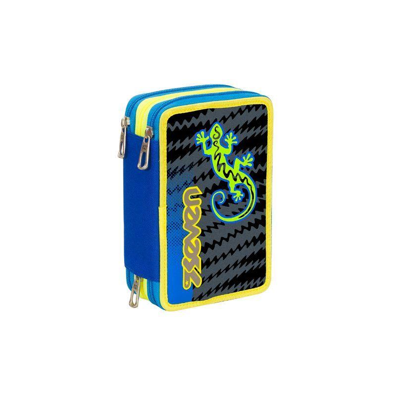 astuccio-tre-zip-seven-grigio-e-blu-con-gecko-giallo