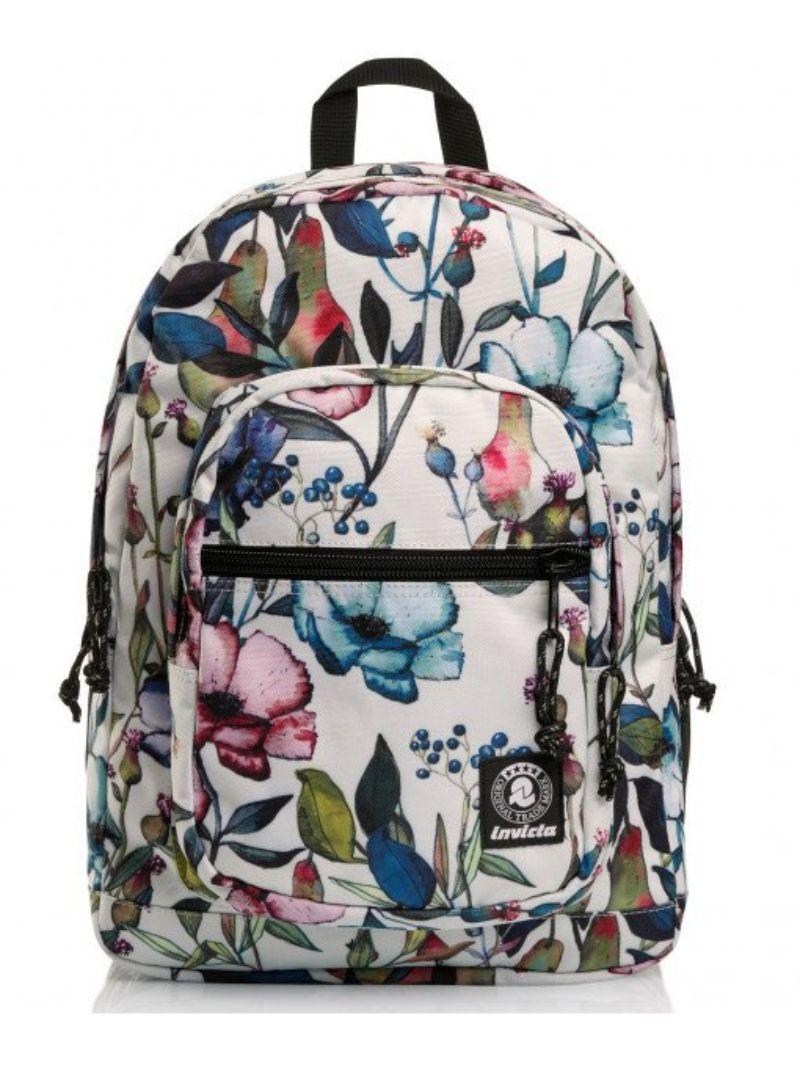 zaino-invicta-fantasia-bianco-fiori-colorati
